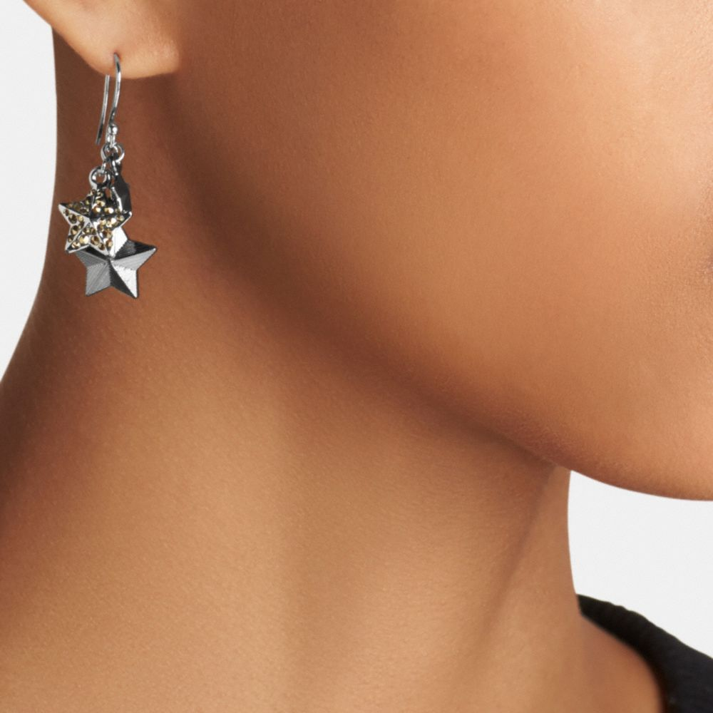 PAVE METAL STARS EARRINGS - Alternate View A1