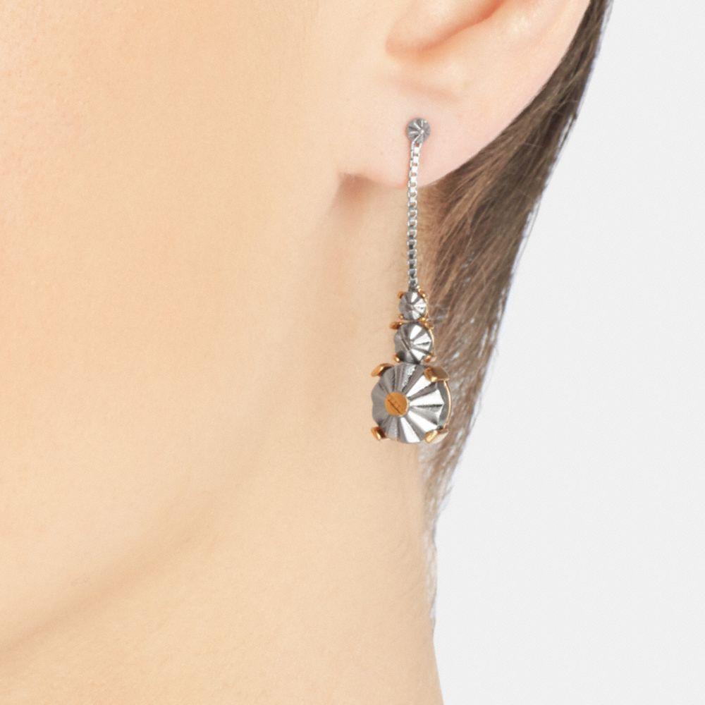 Daisy Rivet Drop Earrings - Alternate View A1