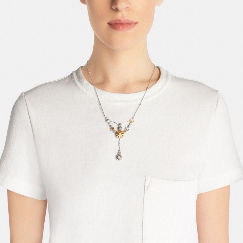 Daisy Rivet Drop Necklace - Alternate View A1