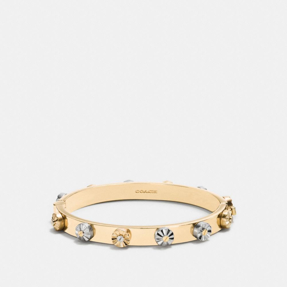 DAISY RIVET HINGED BANGLE - Alternate View