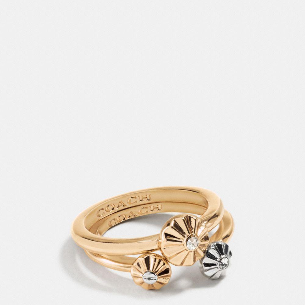 Daisy Rivet Ring Set