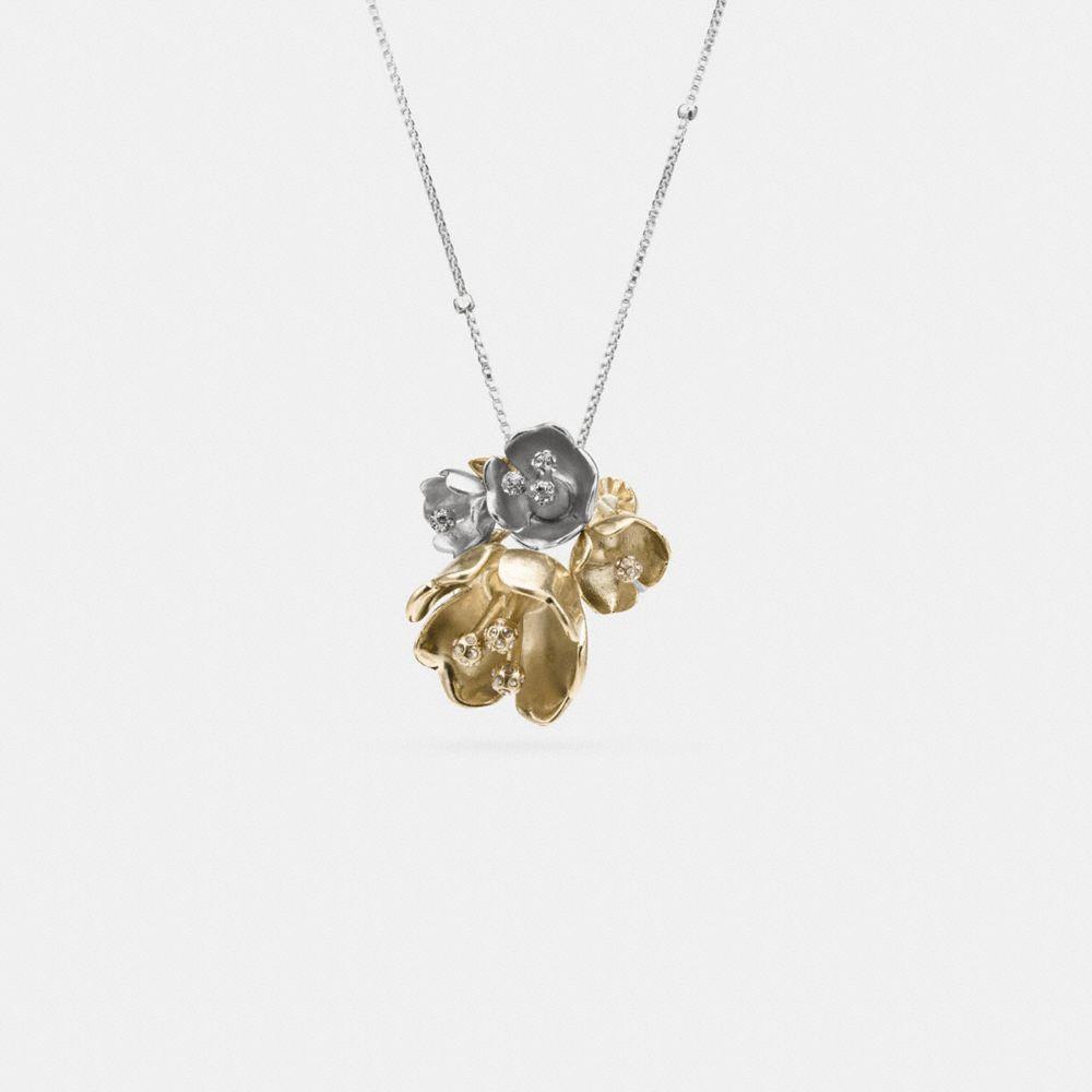 Long Tea Rose Necklace