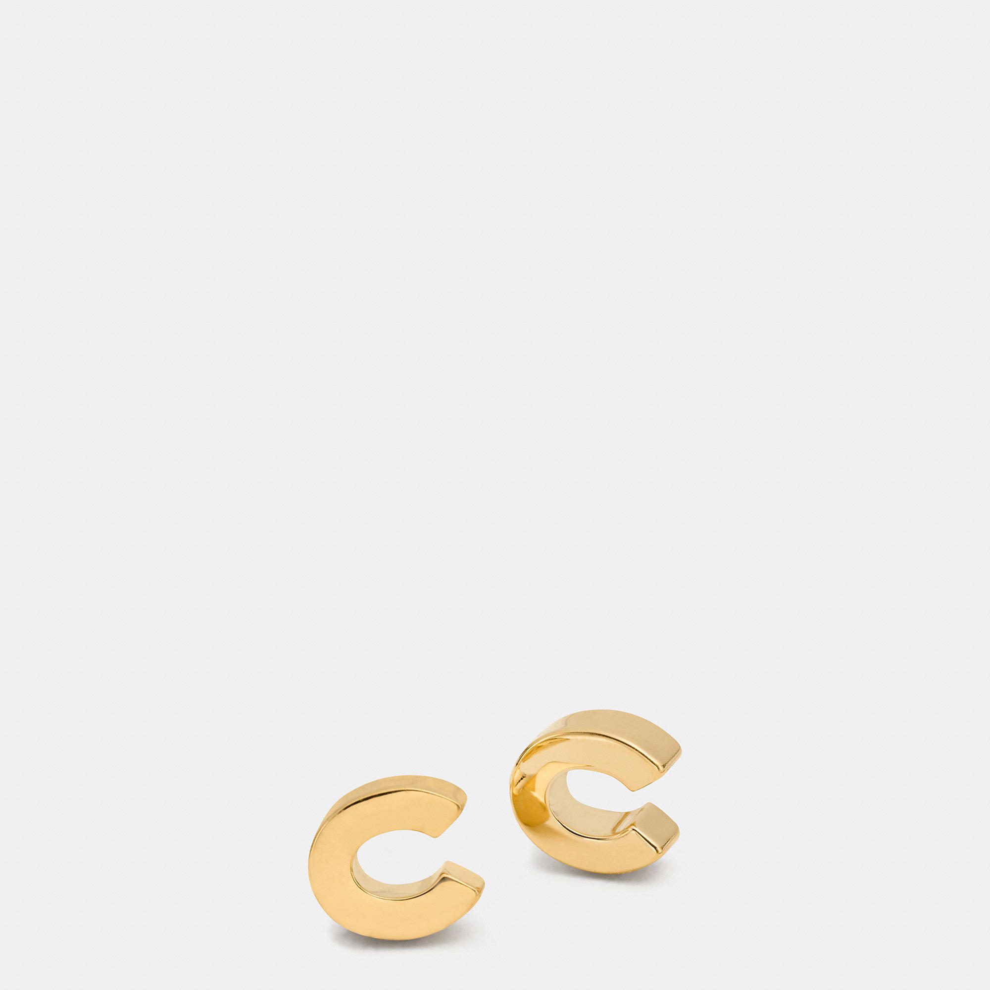 Coach C Stud Earrings