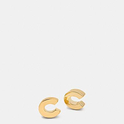 COACH C 鉚釘耳環