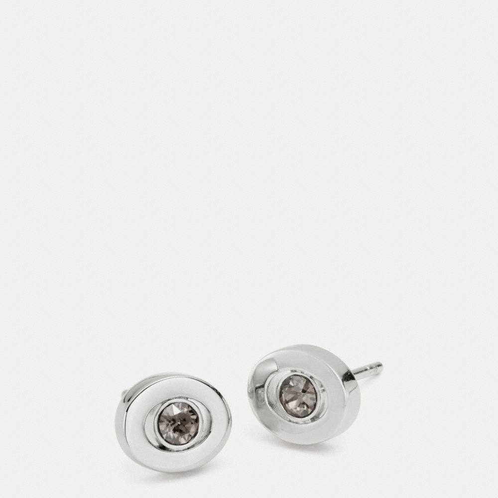 PAVE STUD EARRINGS - Alternate View
