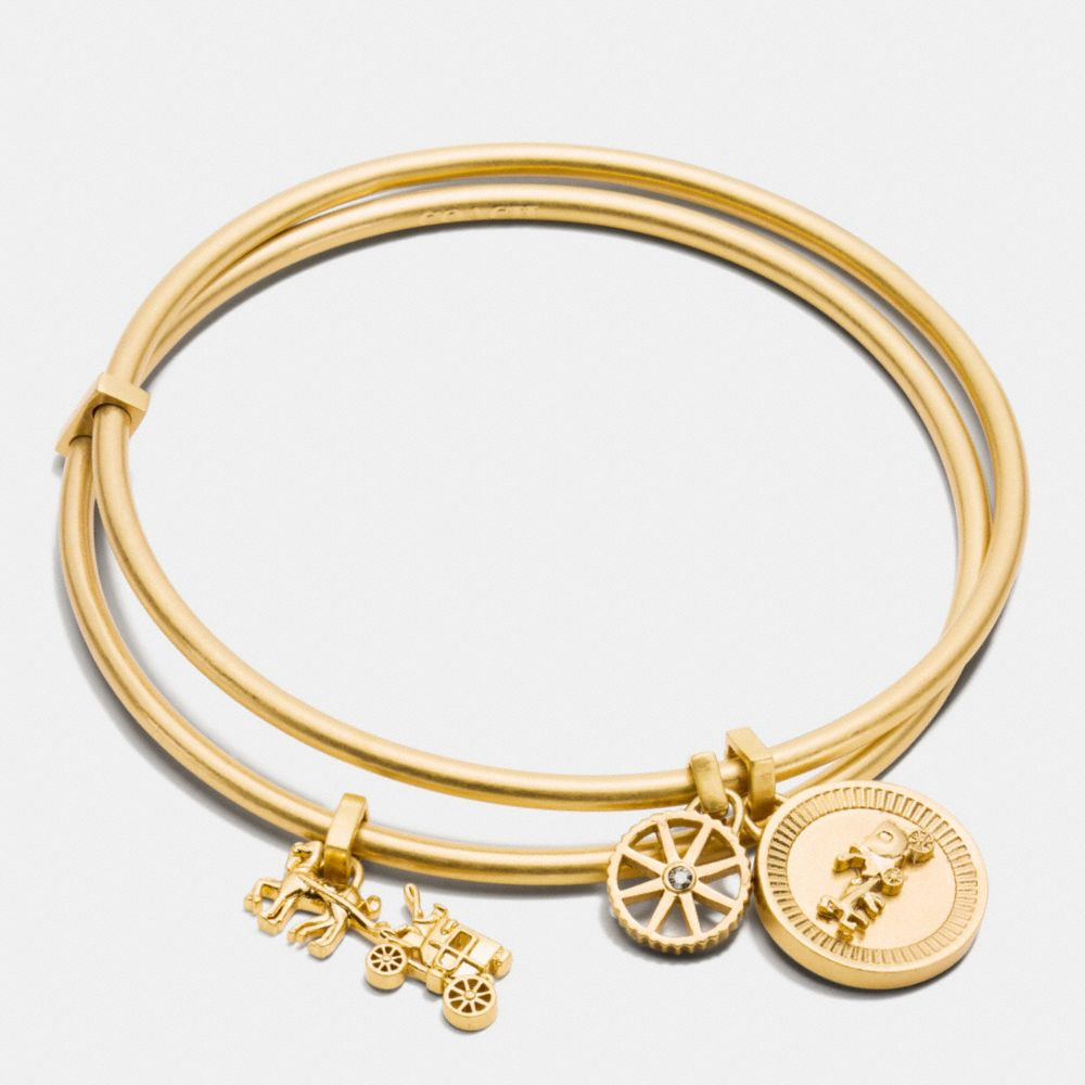 HORSE AND CARRIAGE COIN BANGLE SET - Alternate View