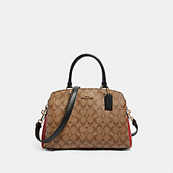 LILLIE CARRYALL IN COLORBLOCK SIGNATURE CANVAS - IM/KHAKI MULTI - COACH 91016