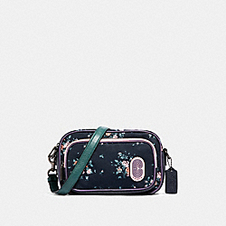 COURT CROSSBODY WITH ROSE BOUQUET PRINT - QB/MIDNIGHT MULTI - COACH 91020