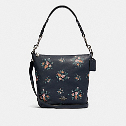 MINI ABBY DUFFLE WITH ROSE BOUQUET PRINT - SV/MIDNIGHT MULTI - COACH 91022