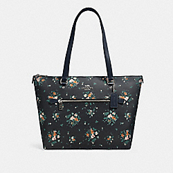 GALLERY TOTE WITH ROSE BOUQUET PRINT - SV/MIDNIGHT MULTI - COACH 91023