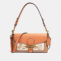 JADE SHOULDER BAG WITH ROSE BOUQUET PRINT - OL/CHALK MULTI - COACH 91024