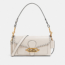 SMALL JADE SHOULDER BAG WITH WHIPSTITCH - OL/CHALK - COACH 91025