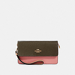 FOLODVER WRISTLET IN COLORBLOCK - IM/CANTEEN MULTI - COACH 91038
