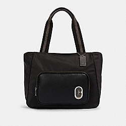 COURT TOTE - SV/BLACK - COACH 91061