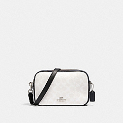 JES CROSSBODY IN BLOCKED SIGNATURE CANVAS - SV/CHALK MULTI - COACH 91077