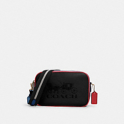 JES CROSSBODY IN COLORBLOCK - SV/BLACK MULTI - COACH 91082