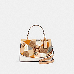 TILLY TOP HANDLE SATCHEL WITH SIGNATURE CANVAS PATCHWORK - IM/CHALK MULTI - COACH 91089