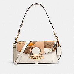 JADE SHOULDER BAG WITH PATCHWORK - IM/CHALK MULTI - COACH 91090