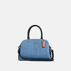 MINI LILLIE CARRYALL - SV/DENIM MULTI - COACH 91093