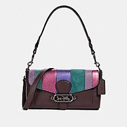 JADE SHOULDER BAG WITH PIECING - QB/OXBLOOD MULTI - COACH 91095