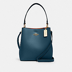 TOWN BUCKET BAG - IM/PEACOCK/BUTTERSCOTCH - COACH 91122