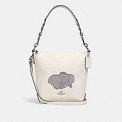DISNEY X COACH MINI ABBY DUFFLE WITH DUMBO - SV/CHALK MULTI - COACH 91123