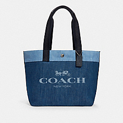 TOTE - SV/DENIM - COACH 91131
