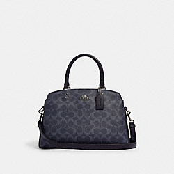 LILLIE CARRYALL IN SIGNATURE CANVAS - SV/DENIM MIDNIGHT - COACH 91132