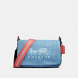 JES MESSENGER - SV/DENIM - COACH 91137