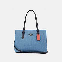 AVENUE CARRYALL - SV/DENIM BRIGHT CORAL - COACH 91140