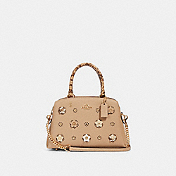 MINI LILLIE CARRYALL WITH DAISY APPLIQUE - IM/TAUPE MULTI - COACH 91142