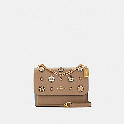 KLARE CROSSBODY WITH DAISY APPLIQUE - IM/TAUPE MULTI - COACH 91143