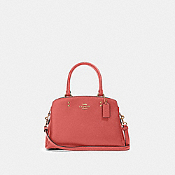 MINI LILLIE CARRYALL - IM/BRIGHT CORAL - COACH 91146