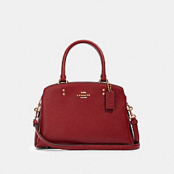 MINI LILLIE CARRYALL - IM/DEEP SCARLET - COACH 91146