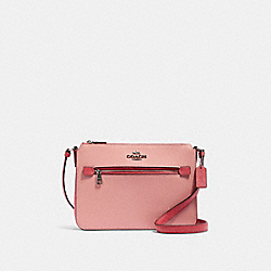 GALLERY FILE BAG IN COLORBLOCK - SV/LIGHT BLUSH MULTI - COACH 91149