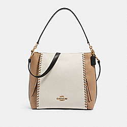 MARLON HOBO IN COLORBLOCK WITH WHIPSTITCH - IM/CHALK MULTI - COACH 91156