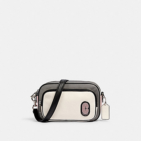COACH COURT CROSSBODY IN COLORBLOCK - SV/HEATHER GREY MULTI - 91158