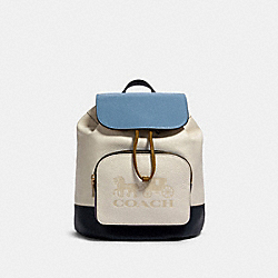 JES BACKPACK IN COLORBLOCK - IM/CHALK MULTI - COACH 91163