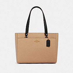 ADDISON TOTE IN COLORBLOCK - IM/TAUPE MULTI - COACH 91165