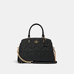 LILLIE CARRYALL WITH QUILTING - IM/BLACK - COACH 91171