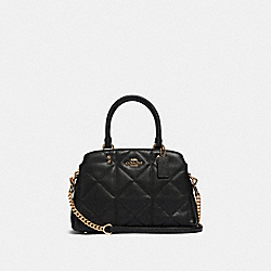 MINI LILLIE CARRYALL WITH QUILTING - IM/BLACK - COACH 91172