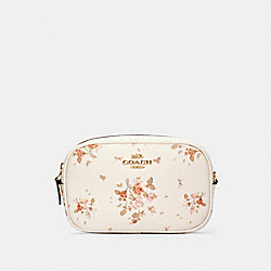 CONVERTIBLE BELT BAG WITH ROSE BOUQUET PRINT - IM/CHALK MULTI - COACH 91179