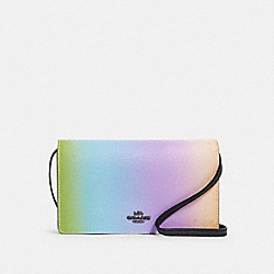 HAYDEN FOLDOVER CROSSBODY CLUTCH WITH OMBRE - QB/MULTICOLOR - COACH 91196