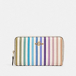 MEDIUM ZIP AROUND WALLET WITH OMBRE QUILTING - IM/CHALK MULTI - COACH 91197
