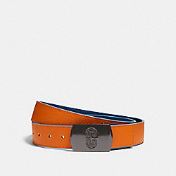 PLAQUE BUCKLE CUT-TO-SIZE REVERSIBLE BELT, 38MM - QB/CLEMENTINE ADMIRAL - COACH 91232