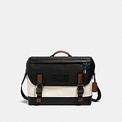 RANGER MESSENGER WITH MOUNTAINEERING DETAIL - QB/CHALK MULTI - COACH 91239