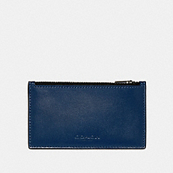 ZIP CARD CASE IN COLORBLOCK - QB/BLUE MULTI - COACH 91241