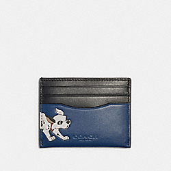 DISNEY X COACH SLIM CARD CASE WITH DALMATIAN - QB/ADMIRAL - COACH 91249