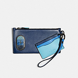 SLG TRIO IN COLORBLOCK WITH COACH PATCH - QB/BLUE MULTI - COACH 91263