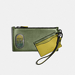 SLG TRIO IN COLORBLOCK WITH COACH PATCH - QB/GREEN MULTI - COACH 91263